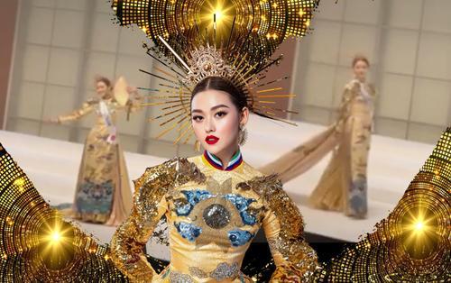 Tường San chọn National Costume Rồng chầu mặt trời, 'quét sạch sân khấu' Hoa hậu Quốc tế 2019