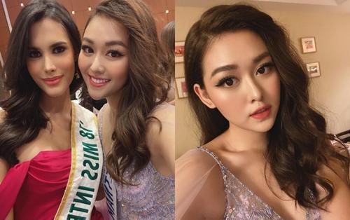 Tường San hóa công chúa 'gây thương nhớ' đọ sắc cùng Miss International 2018 - Mariem Velazco