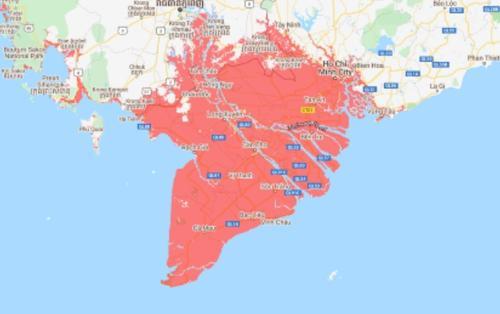 Đồng bằng sông Cửu Long, TP.HCM và Hải Phòng có nguy cơ 'bị xóa sổ gần như hoàn toàn' vào năm 2050 vì nước biển dâng