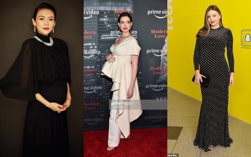 Thời trang bầu bí đáng ngưỡng mộ của Chương Tử Di, Anne Hathaway, Miranda Kerr