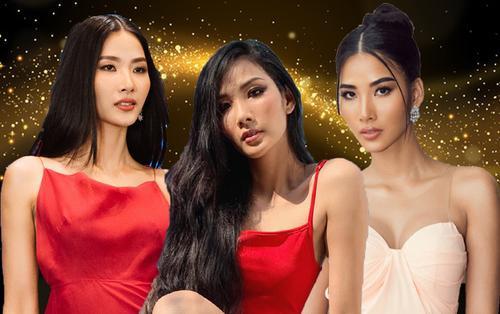 Trừ tóc xoăn, Hoàng Thùy 'đẹp chuẩn' Miss Universe với tóc duỗi thẳng thần thái - tóc búi kiêu kỳ