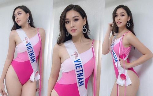 Bán kết Miss Int' 2019: Tường San thả dáng với Bikini hồng, 'hất nhẹ' váy trắng đầy thanh lịch