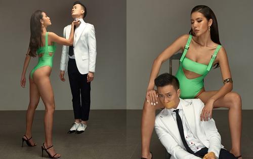 Đạo diễn Lương Mạnh Hải bị Minh Tú 'hành sấp mặt' trong bộ hình mới của 'Hoa hậu giang hồ'