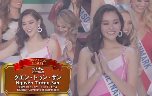 CLIP: Á hậu Tường San xuất sắc lọt Top 15 chung cuộc tại Hoa hậu Quốc tế 2019
