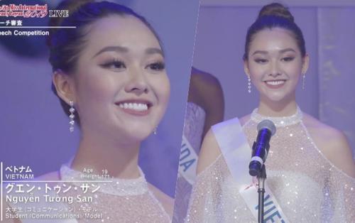 CLIP: Tường San lọt Top 8 chung cuộc, diễn thuyết tiếng Anh hùng hồn tại Hoa hậu Quốc tế 2019