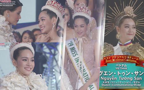 Mỹ nhân Thái Lan đăng quang Hoa hậu Quốc tế 2019, Tường San 'kết đẹp' với vị trí Top 8 chung cuộc