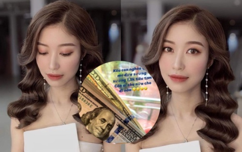 Bạn gái sao Hà Nội khoe mẹ cho 1.500 USD chỉ đủ tiêu tạm