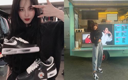 T.O.P Big Bang, Park Shin Hye, kiều nữ Han Ye Seul phấn khích khi sở hữu giày hiếm từ G-Dragon