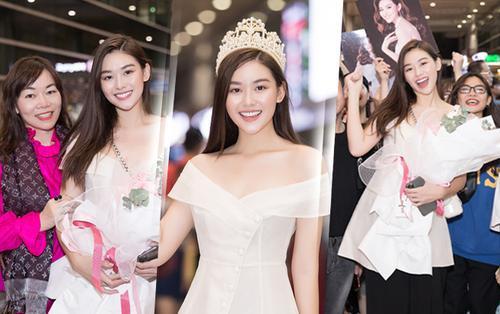 Top 8 Hoa hậu Quốc tế 2019 - Tường San đẹp rạng rỡ trở về Việt Nam, tận tay tặng bánh kẹo Nhật cho fan