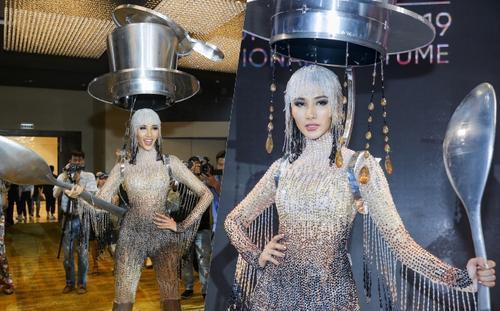 Á hậu Hoàng Thùy chọn trang phục dân tộc 'Cafe phin sữa đá' dự thi Miss Universe 2019