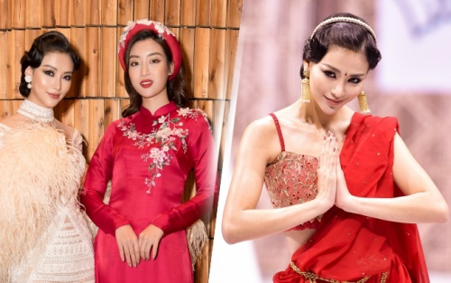 Hoa hậu Trái đất Phương Khánh hội ngộ Đỗ Mỹ Linh, khoe thần thái 'đỉnh' diễn Vedette