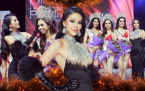Miss Earth Phương Khánh đẹp quý phái, trao vương miện cho Hoa hậu Bikini Philippines 2019