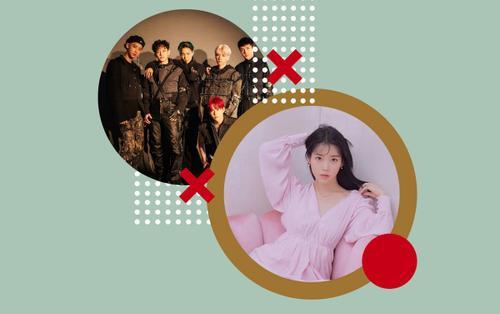 EXO và IU xuất sắc đứng đầu cùng lúc 2 bảng xếp hạng riêng biệt hàng tuần của Gaon
