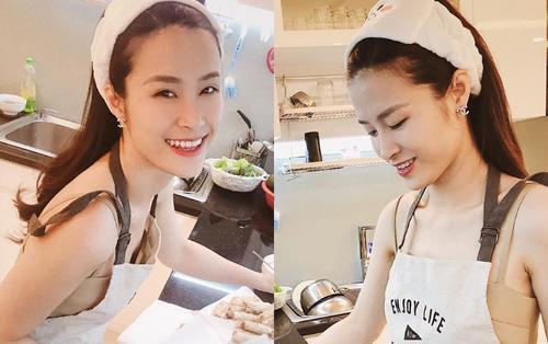 Đông Nhi tự tay vào bếp trổ tài nấu ăn cho Ông Cao Thắng, dân tình liền trầm trồ khen ngợi 'chuẩn vợ người ta'