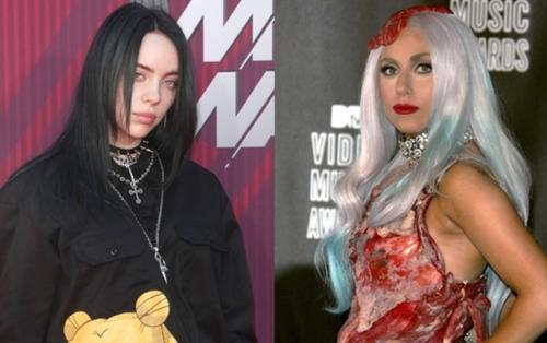 Billie Eilish gây tranh cãi khi 'mỉa mai' chiếc 'váy thịt' của Lady Gaga