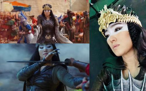 Củng Lợi đăng hình selfie với tạo hình phù thủy Thần Lang trong 'Mulan - Hoa Mộc Lan'