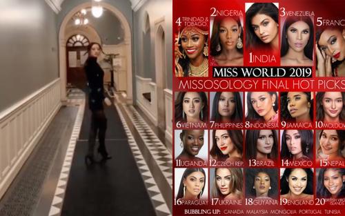Trước giờ G, Lương Thùy Linh khoe trình catwalk đã mắt  giúp cô về nhì Top Model, trụ vững top 6 Miss World