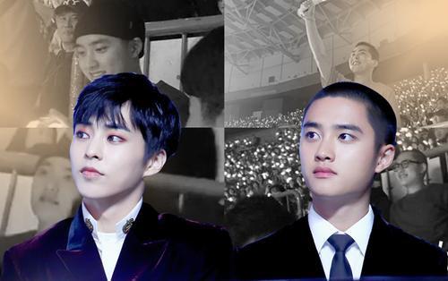Fan 'rần rần' khi Xiumin và D.O. bất ngờ xuất hiện tại concert encore của EXO tại Hàn