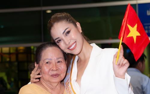 Bà ngoại, mẹ lên Sài Gòn tiễn Keva Nguyễn (Mỹ Duyên) lên đường thi Miss Global
