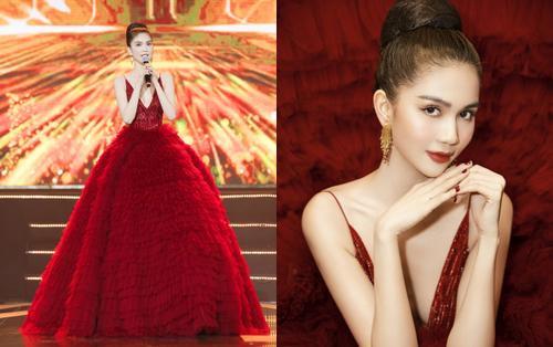 Ngọc Trinh diện đầm đỏ hở lưng gợi cảm, đọ sắc cùng Hariwon, Chi Pu trong sự kiện