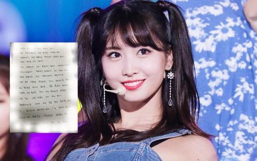 Momo (TWICE) viết tâm thư gửi người hâm mộ sau khi tin hẹn hò với Heelchul (Super Junior) bị 'khui'