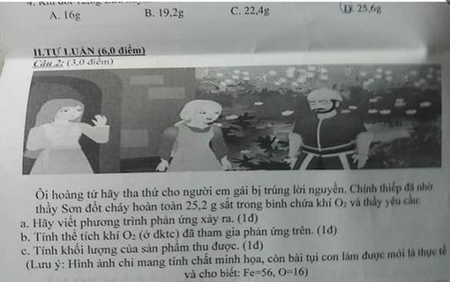 'Chất' như giáo viên dạy Hóa, ra đề thi bắt trend: 'Hoàng tử hãy tha thứ cho người em gái trúng lời nguyền…' khiến CĐM cười ngất