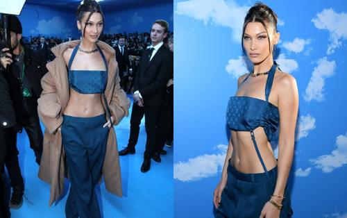 Bella Hadid dự show Louis Vuitton 2020 trong cây thời trang đậm chất 2000s