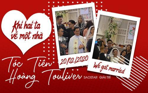 Hàng hiếm: Tóc Tiên diện váy cưới gợi cảm e ấp bên Hoàng Touliver, khi hai ta về chung một nhà