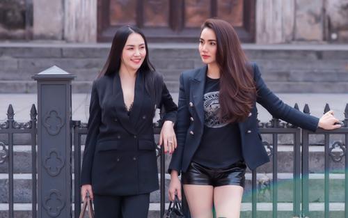 Hương Baby và Trang Nhung cùng nhau dạo phố khoe nhan sắc xinh đẹp