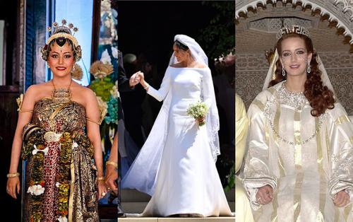 22 chiếc váy cưới hoàng gia nổi tiếng nhất thế giới từng gây bão truyền thông