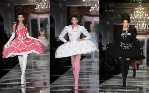 Bella Hadid, Kaia Gerber, Irina Shayk bới tóc tổ ong 'uyển chuyển' trong show Moschino