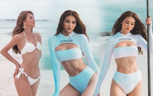 Miss Earth Phương Khánh diện bikini nóng bỏng, tự tin khoe thân hình đồng hồ cát tại Philippines