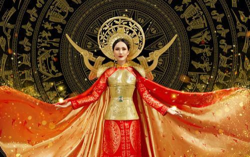 Hé lộ ý nghĩa bộ trang phục dân tộc của Hoài Sa tại Miss International Queen 2020