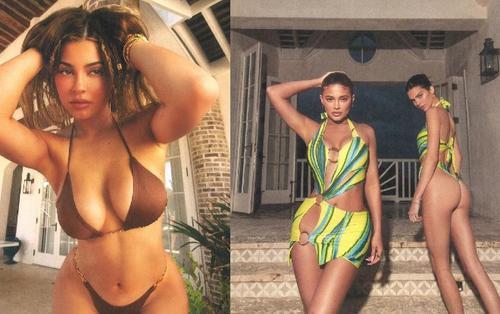 Cư dân mạng 'đau mắt' trước loạt ảnh bikini gợi cảm của chân dài Kendall và Kylie Jenner