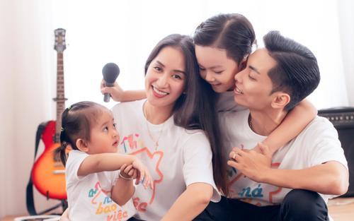 Vợ chồng Khánh Thi phân chia chăm con khi dịch nCoV bùng nổ tại Việt Nam