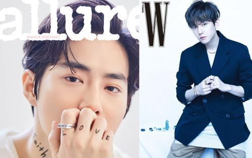 Kim Chung Ha rạng rỡ trên Bazaar - Baekhyun, Suho (EXO) trở thành người mẫu tạp chí Allure tháng 5