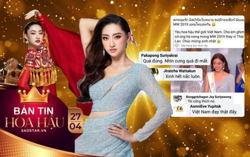 Sau 4 tháng, fan Thái vẫn mê mẩn nhan sắc Lương Thùy Linh: 'Đẹp quá, thi quốc tế lần nữa đi'
