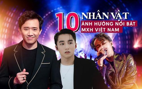 10 nhân vật có sức ảnh hưởng nổi bật MXH Việt Nam: Trấn Thành và Sơn Tùng chia nhau vị trí dẫn đầu, Jack bền bỉ trụ top