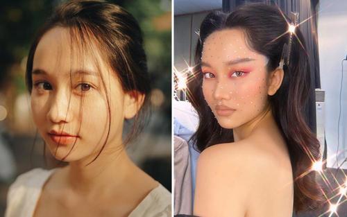Liều lĩnh makeup mắt xéo, môi tều, Trúc Anh 'Mắt biếc' khiến không ai nhận ra