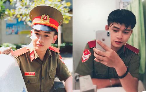 Gương mặt điển trai của nam sinh thực tập khoác lên mình bộ quân phục khiến CĐM 'đứng ngồi không yên'