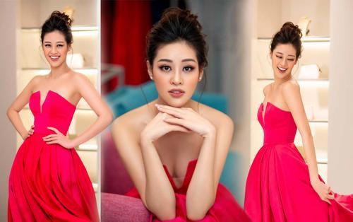 Khánh Vân diện style công chúa, đẹp rạng rỡ như đóa hồng 'đỏ sắc vẫn thừa hương thơm'