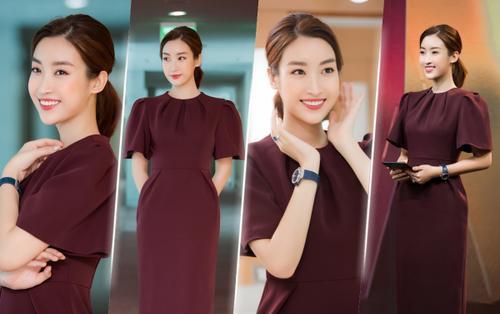Diện váy trơn tối màu, Đỗ Mỹ Linh vẫn rạng rỡ pose '72 dáng đúng đẹp' khiến fan phát sốt