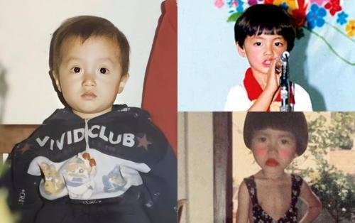 Sao Vbiz khoe ảnh thuở bé ngày 1/6: Hương Giang 'cưng xỉu', Noo - Minh Tú 'đụng hàng' kiểu tóc đầu nấm huyền thoại
