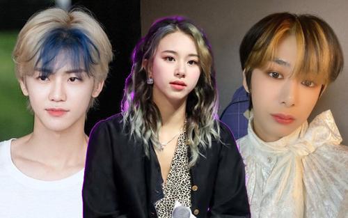 Xu hướng nhuộm tóc mái siêu độc đáo của các idol Hàn Quốc
