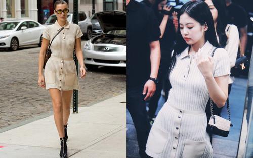 Dẫn đầu xu hướng nhưng Jennie Black Pink vẫn đôi lần học hỏi style thời trang từ chân dài Bella Hadid