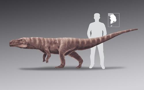 Cá sấu khổng lồ 120 triệu năm tuổi đi bằng hai chân