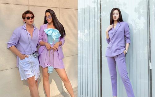 Hết Mai Phương Thuý lại đến á hậu Kim Duyên khiến fan 'gục ngã' với màu tím thơ mộng