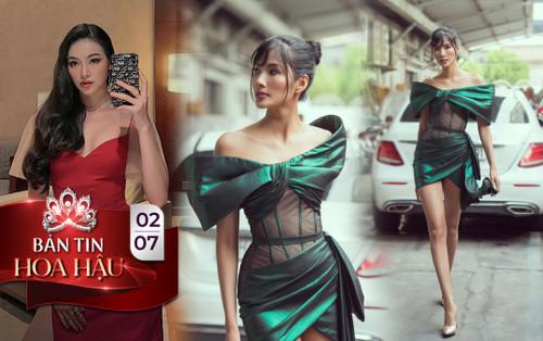 Phương Khánh quyến rũ với váy đỏ rượu vang, Hoàng Thùy kiêu kỳ khoe chân dài cực phẩm 1m16