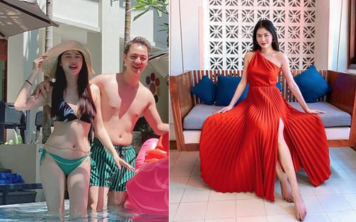 Bà xã Đăng Khôi 'đốt mắt' dân tình khi khoe thân hình nóng bỏng với bikini gợi cảm
