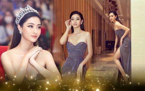 Hoa hậu Lương Thuỳ Linh đội vương miện 3 tỷ khoe nhan sắc 'vạn người mê' chấm thi sắc đẹp